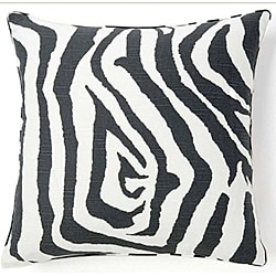 Jiti Africa Zebra Gray-and-White Decorative Pillow