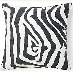 Jiti Africa Zebra Gray-and-White Decorative Pillow