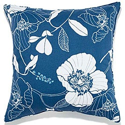 Poppy Blue Outdoor Pillow