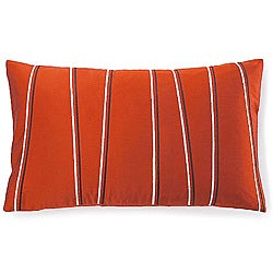 Jiti Pillows Diagonal Orange Poly Decorative Pillow