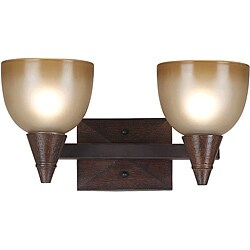 Kennerly 2-Light Dark Oak Bath Vanity Light