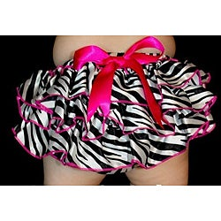 Just Girls Zebra Ruffle Bloomers and Crib Shoes Set