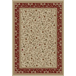 Rosa's Bouqet Ivory Area Rug (7'10 x 9'10)
