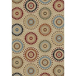 'Orchid Fields' Ivory Area Rug (5'3 x 7'3)
