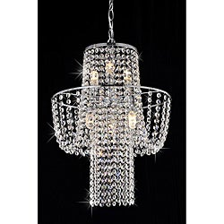 'Ariel' 6-light Chrome/ Crystal Chandelier
