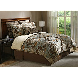 Rasmussen Mocha 8-piece King Comforter Set