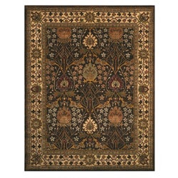 Hand-tufted Morris Brown Wool Rug (10' x 14')