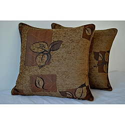 Sherry Kline 18-inch Leigh Brown Decorative Pillows (Set of 2)