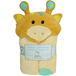 Piccolo Bambino Yellow Giraffe Hooded Cuddle Blanket
