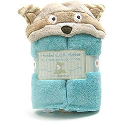 Piccolo Bambino Blue Racoon Hooded Cuddle Blanket
