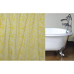 Yellow Zebra Shower Curtain
