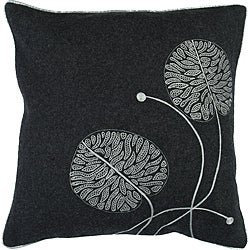 Decorative Square Helm Medium Grey Duotone Down Pillow