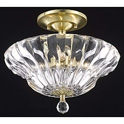 Crystal Gold 3-Light Semi-Flush Mount