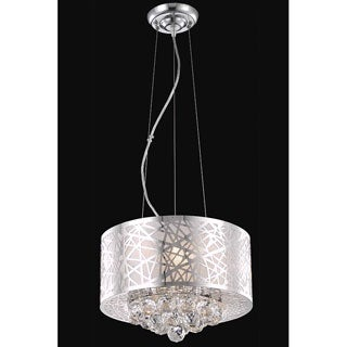 Somette Chrome 3-Light Crystal Drop Chandelier