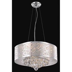 Chrome 7-light Crystal Drop Chandelier