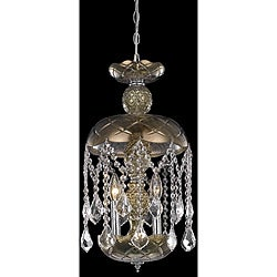 Golden Teak Pendant Chandelier