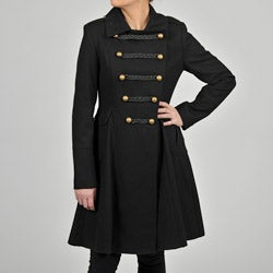 Tahari Women&#39;s Double-breasted Wool-blend Military-inspired Coat