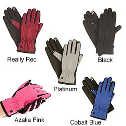 Isotoner Women's Smartouch Matrix Nylon Gloves