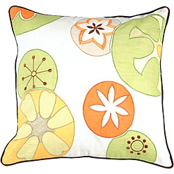 Decorative Thurst Medium Multicolored Square Down Pillow