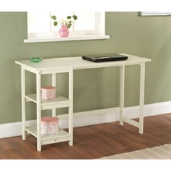 Simple Living White Solid Wood Emory Desk