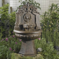 Big Copper Lion Head Water Fountain