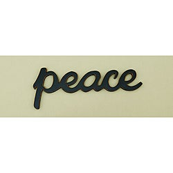 'Peace' Wood Word Wall Art