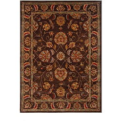 Hand-Tufted Tempest Brown/Tan Area Rug (8' x 11')