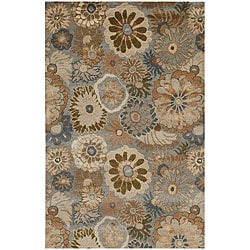 Hand-Tufted Multicolored Wool Rug (8' x 11')
