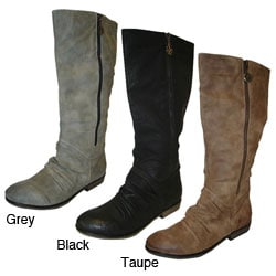 Bucco Women's Mid-calf Zipper Boots