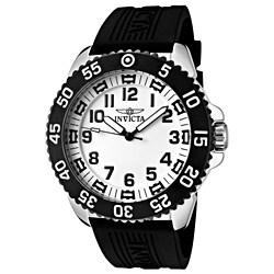 Invicta Men's 'Pro Diver' Black Polyurethane Watch