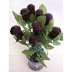 Lang&#39;s Chocolates One-dozen Long Stem Dark Chocolate Roses