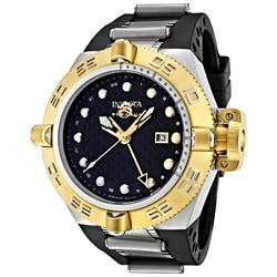 Invicta Men's 'Subaqua/Noma IV' Black Polyurethane Watch