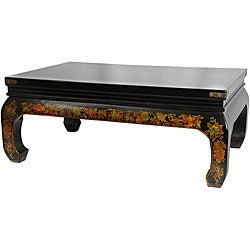 Black Lacquer &#39;Peaceful Village&#39; Coffee Table (China)