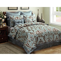 Largo 8-piece King-size Comforter Set