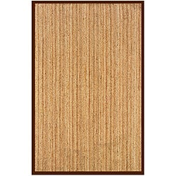 Natural Fiber Cocoa Rectangle Rug (5' x 7'9)