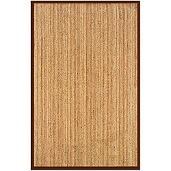 Natural Fiber Cocoa Rectangle Rug (8' x 10')