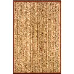 Natural Fiber Rust Rectangle Rug (8' x 10')