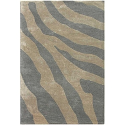 Hand-tufted Silver Wool Area Rug (3' 6 x 5' 6)
