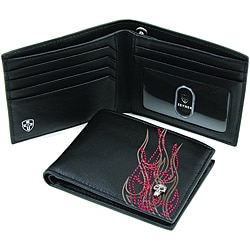 Zeyner Men's 'Pyro Maniac' Leather Bi-Fold Wallet