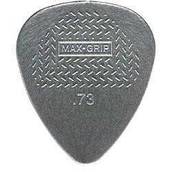 Dunlop 449P.73 Nylon Max Grip Standard 0.73mm Gray Guitar Picks (Pack of 12)
