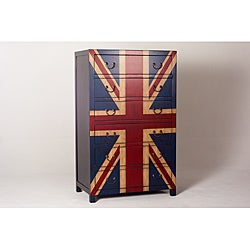 Union Jack Flag 6-Drawer Chest