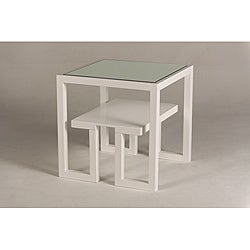 Jade Mirror-Top End Table