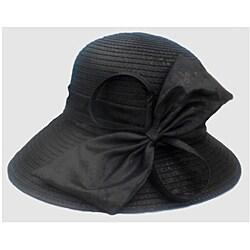 Swan Hat Women's Textured Charcoal Packable Satin Cloche Hat