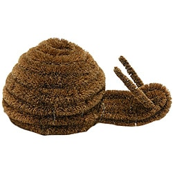 &quot;Snail&quot; Coir Boot Coconut Brush Scraper