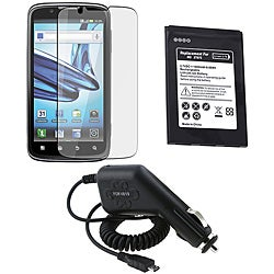 Screen Protector/ Car Charger/ Battery for Motorola Atrix MB865