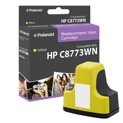 HP 02 Yellow Ink Cartridge by Polaroid (Remanufactured)