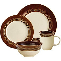 Paula Deen Southern Gathering Brown 16-piece Dinnerware Set
