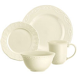 Paula Deen Whitaker Vanilla 16-piece Dinnerware Set