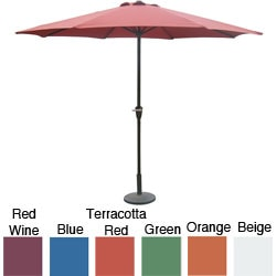 Aluminum Patio Umbrella with Crank (9')