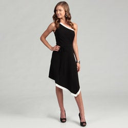 London Times Women's One-shoulder Dress